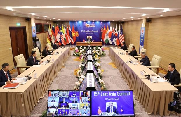 Vietnam successfully escorts ASEAN through a tough year hinh anh 1