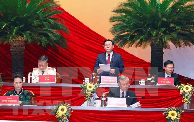 Party Congress continues discussion of draft documents on January 28 hinh anh 1