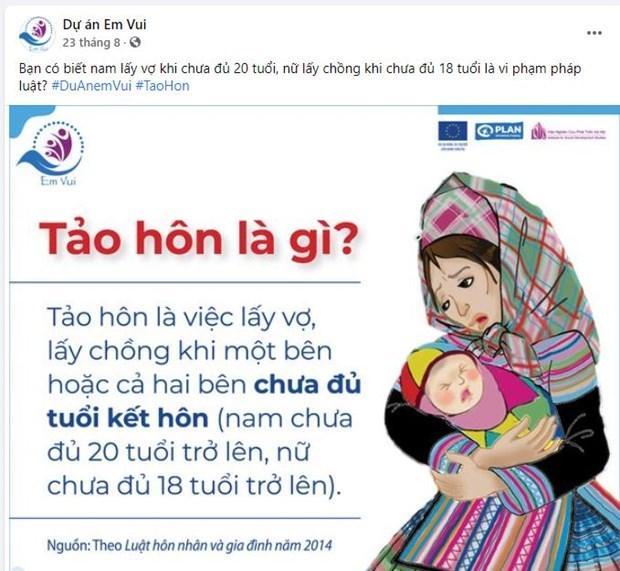 Digital platform to educate young people on child marriage and human trafficking hinh anh 1