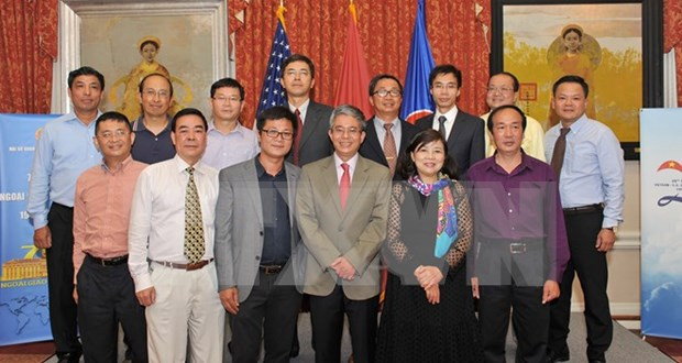 Embassy in US celebrates diplomacy sector anniversary hinh anh 1