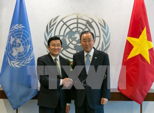 Vietnamese President meets with UN Secretary-General in NY hinh anh 1