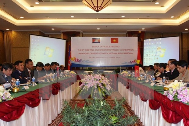 Senior officials discuss ways to reinforce Vietnam-Cambodia ties hinh anh 1