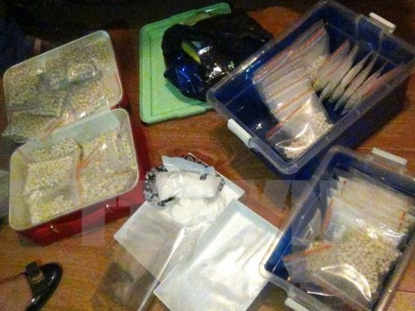 Police make breakthrough on trans-national drugs ring hinh anh 1