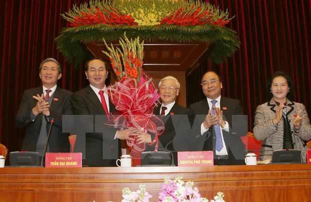 Newly-elected Party Central Committee convenes first plenum hinh anh 1