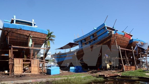 Quang Ngai: maritime logistics ship sets sail hinh anh 1