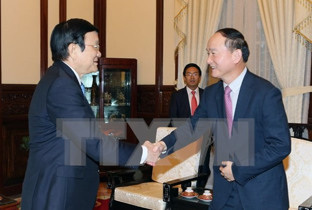 President asked Samsung to help with developing support industry hinh anh 1