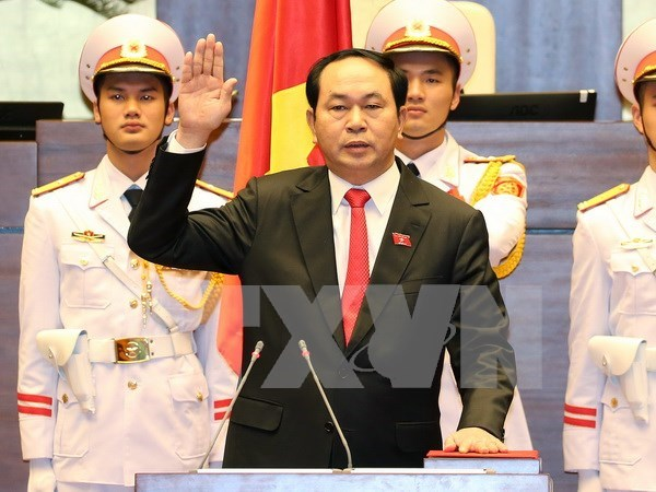 Tran Dai Quang voted in as State President hinh anh 1