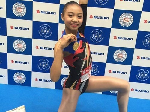 Young Vietnamese woman wins aerobics World Cup gold hinh anh 1
