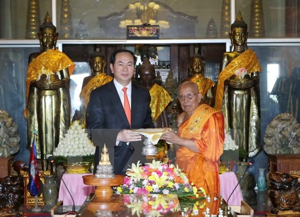 President wraps up Cambodia visit hinh anh 1
