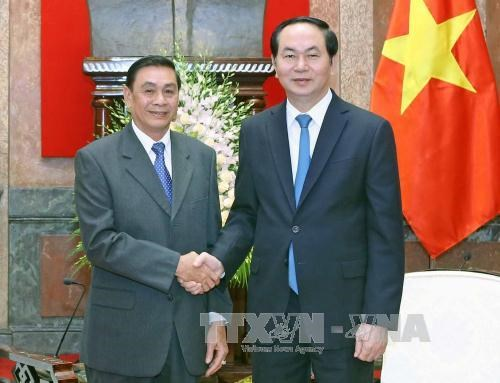 President hosts head of Lao Presidential Office hinh anh 1