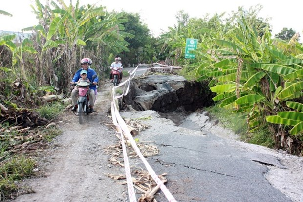 Mekong Delta faces worsening land subsidence hinh anh 1