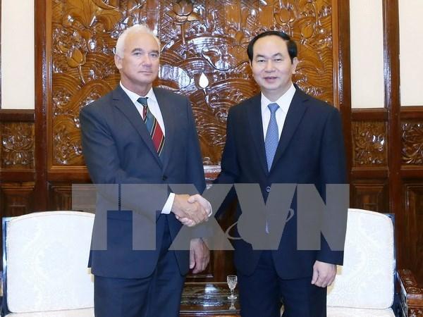 President bids farewell to Belarusian ambassador hinh anh 1