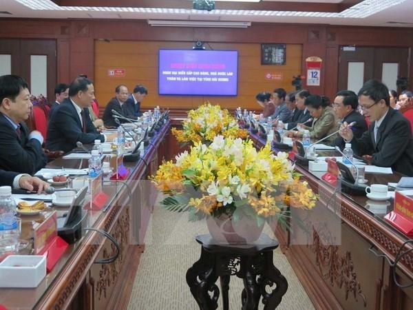Lao Vice President visits Hai Duong hinh anh 1