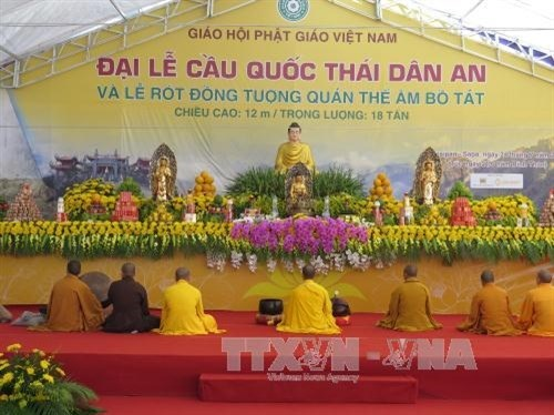 Praying ceremony for peace held in Lao Cai hinh anh 1