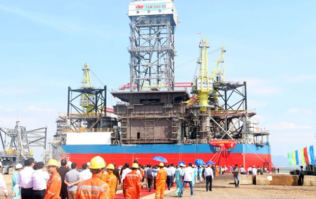Offshore Vietnam oil rig launched in south hinh anh 1