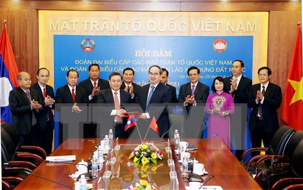 Vietnam, Laos fatherland fronts forge stronger ties hinh anh 1