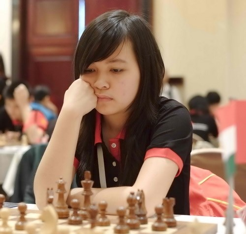 Vietnamese female team rank ninth in Chess Olympiad hinh anh 1