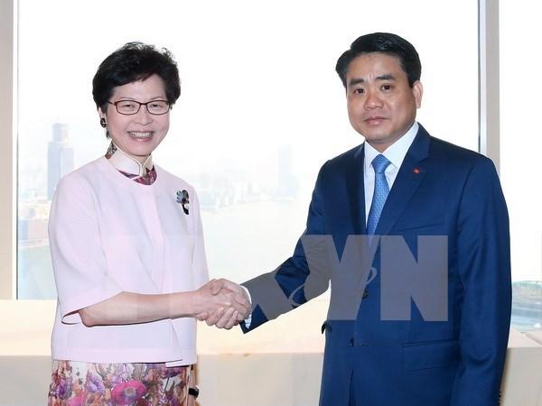 Hanoi, Hong Kong step up cooperation hinh anh 1
