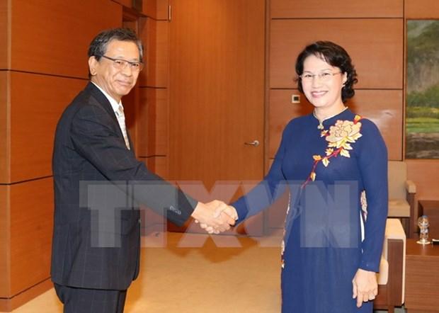 NA Chairwoman bids farewell to Japanese Ambassador hinh anh 1