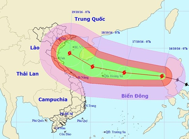 Typhoon Sarika coming, East Sea faces 7th storm this year hinh anh 1