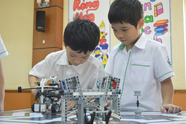 Annual Robotics Contest held for school kids hinh anh 1