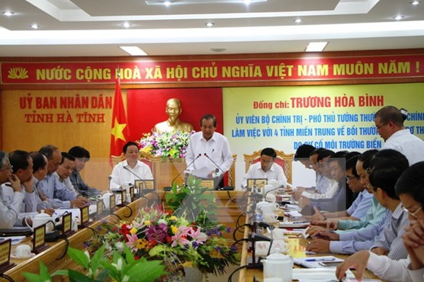 Deputy PM urges efforts to hasten mass fish death compensation hinh anh 1