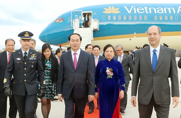 President Tran Dai Quang begins State visit to Italy hinh anh 1