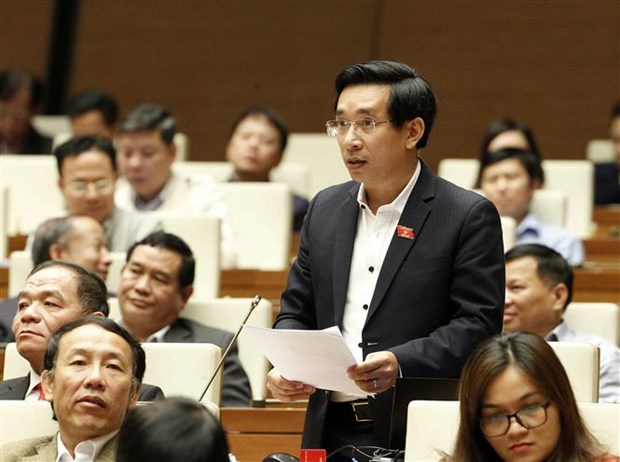 NA deputies debate draft Law on State secret protection hinh anh 1