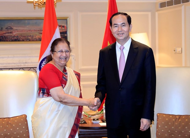 Vietnamese President calls for stronger ties with India hinh anh 1