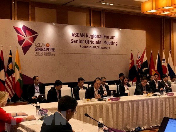 Officials of ASEAN, partner countries talk regional cooperation hinh anh 1