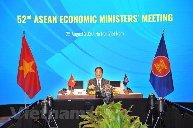 ASEAN ministers talk realisation of economic initiatives, COVID-19 response hinh anh 1