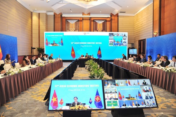 ASEAN ministers talk realisation of economic initiatives, COVID-19 response hinh anh 2