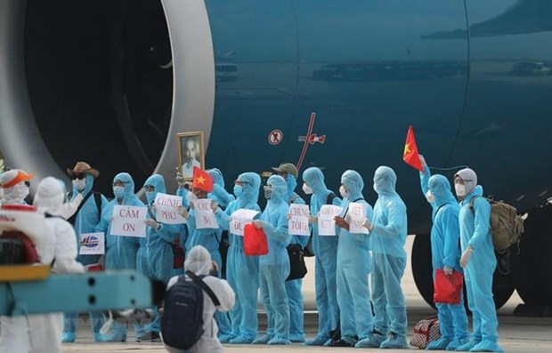 Over 3,000 Vietnamese migrant workers repatriated home so far hinh anh 1