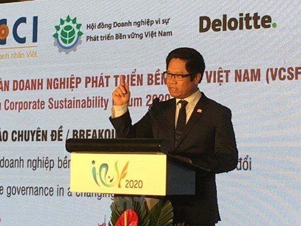 Professional corporate governance needed for sustainable development in COVID-19 time: expert hinh anh 1