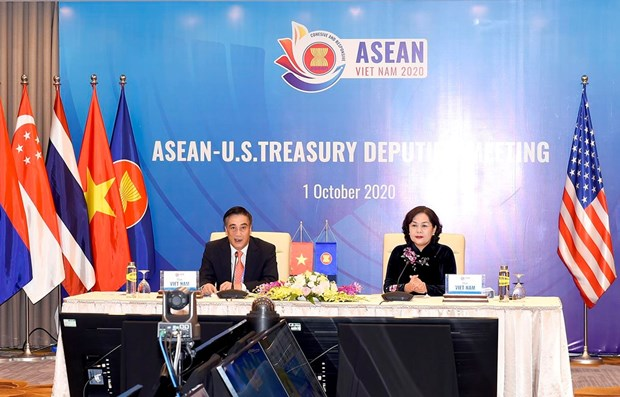 ASEAN, US promote finance-banking cooperation dialogue hinh anh 1