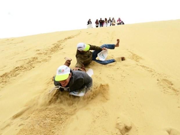 Great fun sand boarding in Nui Ne hinh anh 1