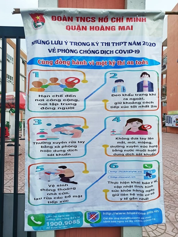 Joint efforts made to ensure safe high-school graduation exam amidst COVID-19  hinh anh 4