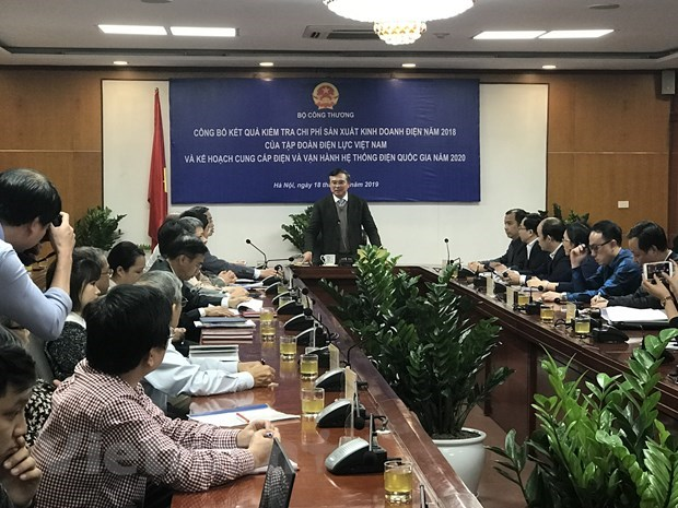 EVN reports nearly 700 billion VND in profit in 2018 hinh anh 1