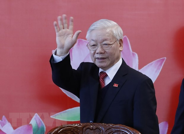 Foreign leaders congratulate Nguyen Phu Trong on re-election hinh anh 1