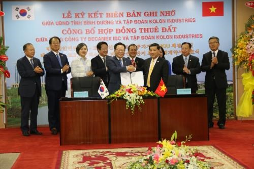 Kolon Industries plans 1 billion USD project in Binh Duong hinh anh 1