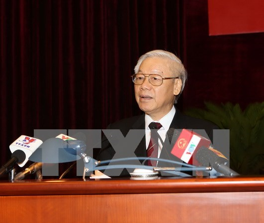 Party chief begins official visit to Laos hinh anh 1