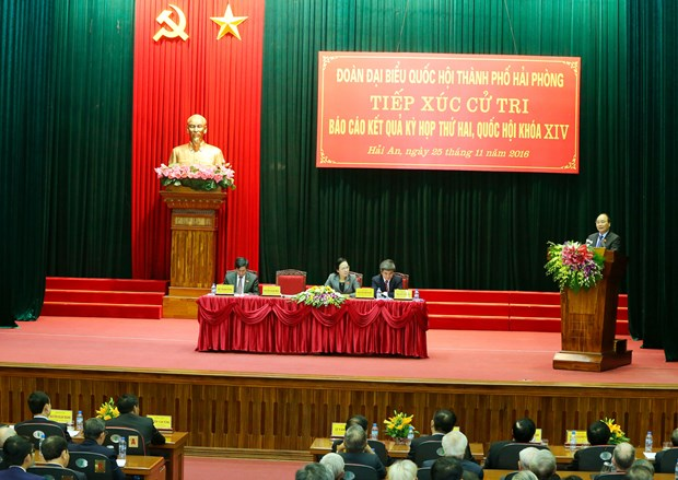 PM updates Hai Phong voters on outcomes of parliament's session hinh anh 1