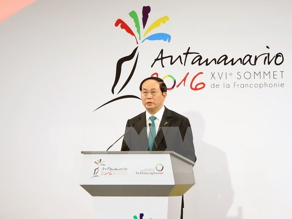 President meets with leaders of Francophone nations hinh anh 1