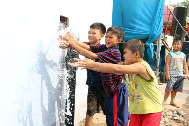 Ben Tre: Water station inaugurated in coastal district hinh anh 1