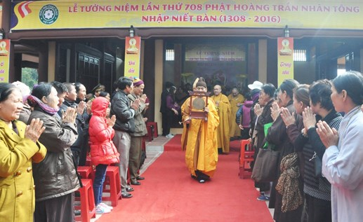 Ceremony marks 708th anniversary of King-Monk's Nirvana attainment hinh anh 1