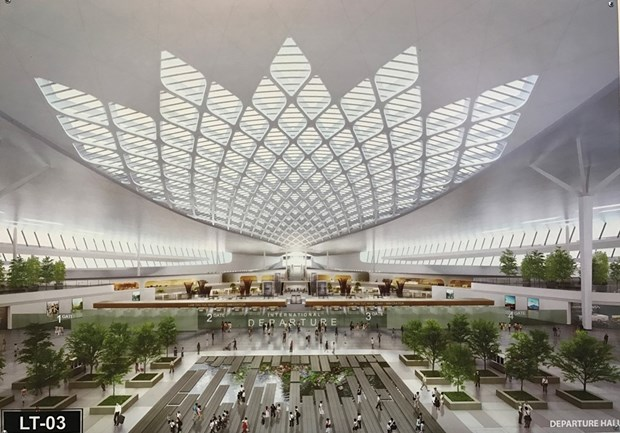 Long Thanh airport terminal designs showcased hinh anh 1