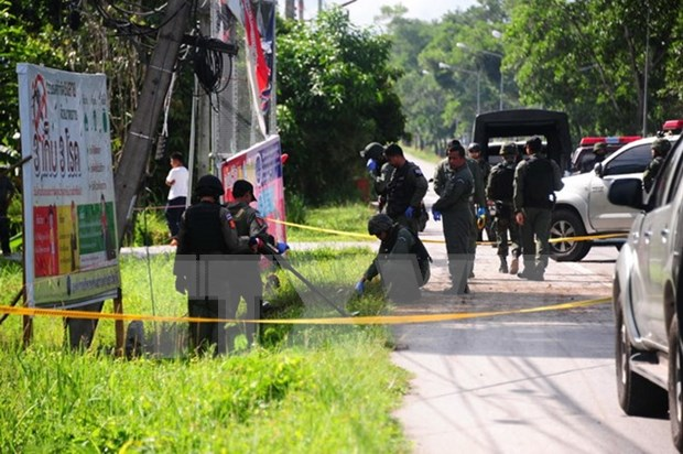 Thailand arrests three suspects of tourist site bomb attacks hinh anh 1