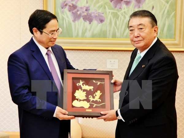 Japanese parliament leaders pledge to tighten cooperation with Vietnam hinh anh 1