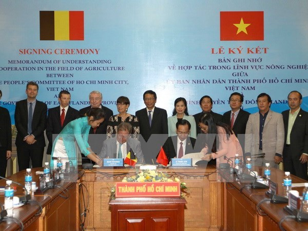 HCM City, Belgian province bolster agricultural partnership hinh anh 1