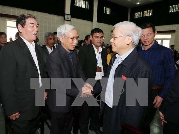 Party chief meets constituents in Hanoi hinh anh 1